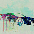 Ford GT Watercolor 2 Print by Naxart Studio