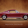 Ford Mustang Fastback 1965 Print by Mark Rogan