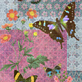 Four Butterfly Patch Blue by JQ Licensing