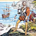 Francis Drake And The Golden Hind by Ron Embleton