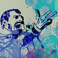 Freddie Mercury Queen by Naxart Studio