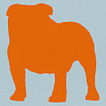 French Bulldog Orange Print by Naxart Studio