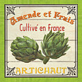 French Vegetable Sign 2 by Debbie DeWitt
