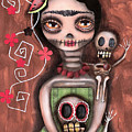 Frida Day Of The Dead by  Abril Andrade Griffith