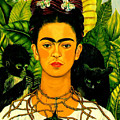 Frida Kahlo Self Portrait With Thorn Necklace And Hummingbird by Pg Reproductions