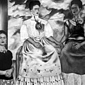 Frida Kahlo Shown With Her Painting Me by Everett