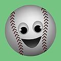 Fun Baseball Character by MM Anderson