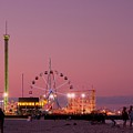 Funtown Pier At Sunset IIi - Jersey Shore by Angie Tirado