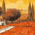 fuoco di Toscana Print by Guido Borelli