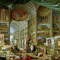 Gallery Of Views Of Ancient Rome by Giovanni Paolo Pannini
