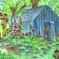 Garden Potting Shed by Cathie Richardson