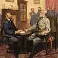 General Grant Meets Robert E Lee  by English School