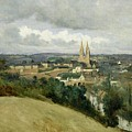General View Of The Town Of Saint Lo by Jean Corot