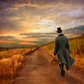 Gentleman Walking On Rural Road by Jill Battaglia