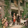 George Washington At Bartrams Garden by Jean Leon Jerome Ferris
