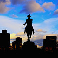 George Washington Statue Sunset - Boston by Joann Vitali