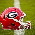 Georgia Bulldogs Football Helmet by Replay Photos