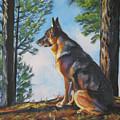 German Shepherd Lookout by Lee Ann Shepard