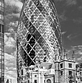 Gherkin And St Andrew's Black And White by Gary Eason