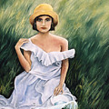 Girl in a Field of Grass