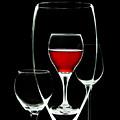 Glass Of Wine In Glass by Tom Mc Nemar