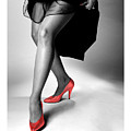 Glorious Gams - Red Shoes by Jerry Taliaferro