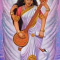 Goddess Saraswati by Sue Halstenberg
