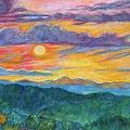 Golden Blue Ridge Sunset by Kendall Kessler