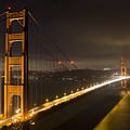 Golden Gate At Night by Mike Irwin