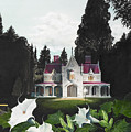 Gothic Country House Detail From Night Bridge by Melissa A Benson