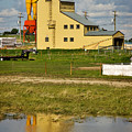 Grain Elevator In Balzac Alberta by Louise Heusinkveld