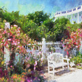 Grand Hotel Gardens Mackinac Island Michigan by Betsy Foster Breen