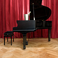 Grand Piano With A Champagne Cooler by Corepics