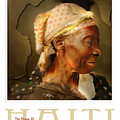 grandma - the people of Haiti series poster by Bob Salo