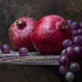 Grapes With Pomegranates by Tom Mc Nemar