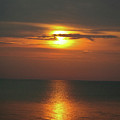Great Lakes Sunset And Beach by Brent Parks