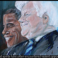 Great Spirits - Teddy And Barack by Valerie Wolf