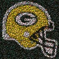 Green Bay Packers Bottle Cap Mosaic by Paul Van Scott