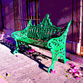 Green Bench By Michael Fitzpatrick by Mexicolors Art Photography