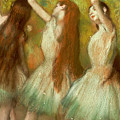Green Dancers by Edgar Degas