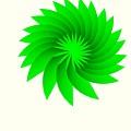 Green Flower by Michael Skinner