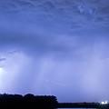 Green Lightning Bolt Ball And Blue Lightning Sky by James BO  Insogna