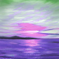 Green Skies And Purple Seas Sunset by Gina De Gorna