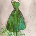 Green Strapless Dress by Lauren Maurer