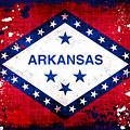 Grunge Style Arkansas Flag by David G Paul