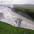 Gullfoss A Powerful Waterfall In The Canyon Of The Hvita River by Sami Sarkis
