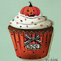 Halloween Pumpkin Cupcake by Catherine Holman