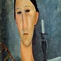 Hanka Zborowska With A Candlestick by Amedeo Modigliani