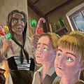 Hanzel And Gretel In Witches Kitchen by Martin Davey