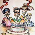 Happy Birthday Woman Skull by Heather Calderon